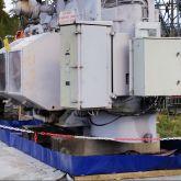 Bac de rétention souple pliable avec équerres amovibles pour zones de stockage sur chantiers ou sites industriels. Dimensions sur mesure possible