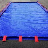 BRSO 21600AUTO - Bac de rétention souple de 21600 L autoportant de couleur bleue, avec de plaques de maintien soudées aux parois du bac