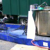 BRSO 3750 SM - Bac de rétention de 3750 L. Bac souple pliable amovible utilisé sur chantier pour entreposer du matériel